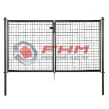 Double Garden Fence Gate Svetsad Wire Mesh