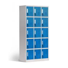 Kleiner Würfel aus Metall, 15 Türen, Kleideraufbewahrungsschrank