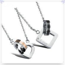 Joyería de moda colgante de acero inoxidable amantes de collar (nk204)