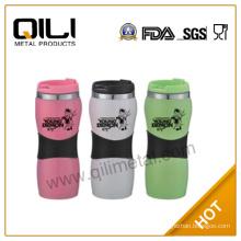 16 oz plastic outside coffee travel mug cups