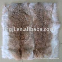 Funda de cojín de piel de conejo natural