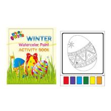 pintura mágica aquarela de easter egg livro para colorir para impressão