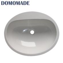 Малый размер акриловые круглые сантехника Туалет Ванная комната бассейна каменные раковины умывальник