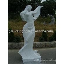 Adorável Menina Stone Carving