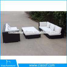 Sectional furniture rattan garden sofa set