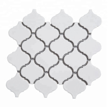Soulscrafts 300x300mm Arabesque Super White Ceramic Mosaic Tile