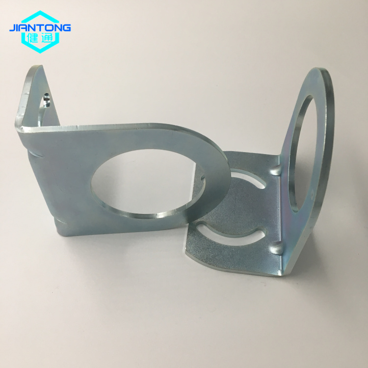 zinc plated steel stamping bending and cutting parts (3)