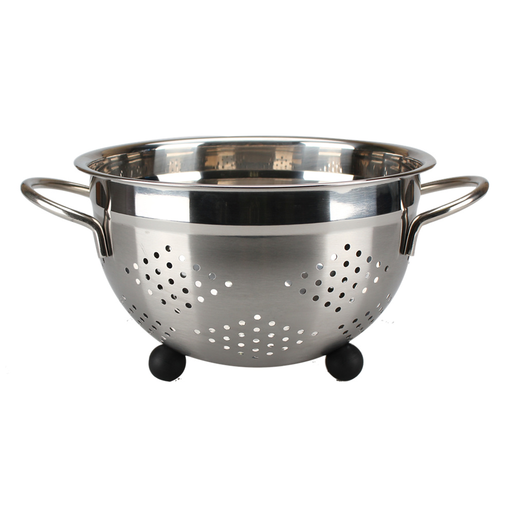 Satin Polishing Stainless Steel Colander
