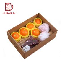 Verschiedene Arten Einwegkarton orange Geschenkbox für den Versand