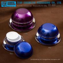 Serie de YJ-MA 15g 30g 50g alta claro elegante cúpula acrílico contenedores para cosmética