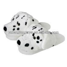 Zapatillas de interior de la felpa del invierno del diseño lindo del perro