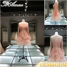 China alibaba applique nupcial de novia vestido de fiesta de alta calidad de las mujeres vestidos de flores mini vestidos de noche
