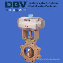 Пневматический высокопроизводительный поворотный дисковый поворотный клапан