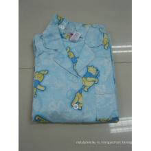 Хлопковая фланель с надписью пижамы