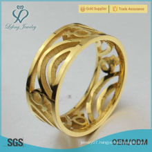 Gold lesbian commitment rings, stainless steel gold matching lesbian rings