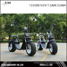 City Coco Electric Scooter for Adults 2 Big Size Wheels 12inch 1200W/60V/12ah