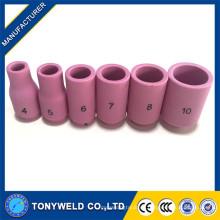 Tig consumibles de la antorcha de soldadura boquillas de cerámica Serie 13N 4 5 6 7 8 10