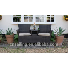 New Design Resin Wicker Rolling Chinese Garden Seats