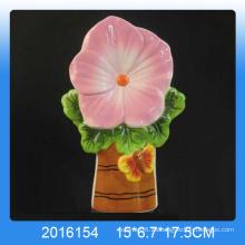 Diseño decorativo de flores Humidificador de aire de cerámica para la decoración del hogar