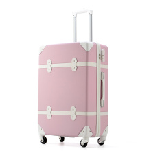 Zipper Retro Roller Large Capacity Luggage for travel