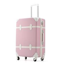 Ретро роликовый чемодан большой емкости с застежкой-молнией для путешествий