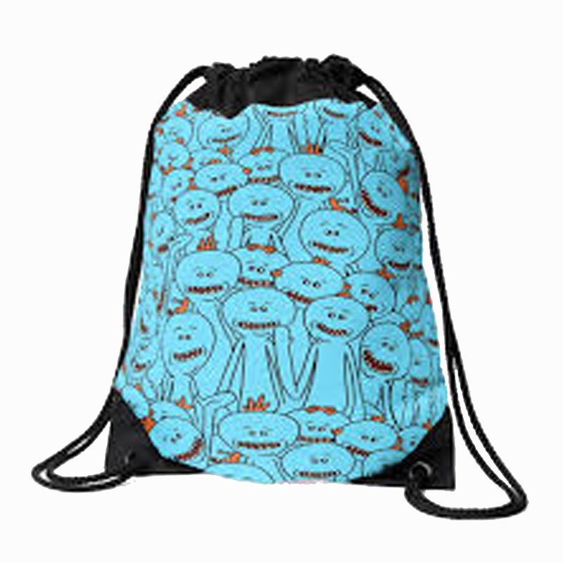 Rick And Morty Drawstring Bags By Bovaart