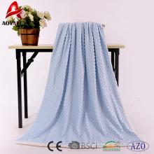 promotion solid super soft micromink winter blanket backside sherpa