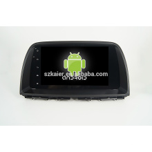 9''car lecteur dvd, usine directement! Quad core android pour voiture, GPS / GLONASS, OBD, SWC, wifi / 3g / 4g, BT, lien miroir pour Mazda CX-5