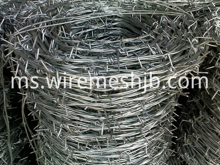 Galvanised Steel Barbed Wire
