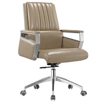 Cadeira moderna da reunião do escritório do couro do meio traseiro (HF-B1503)