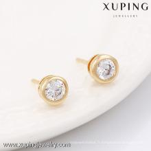 90150-Xuping bijoux à la mode or plaqué type classique boucles d'oreilles