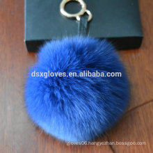 Europe Popular Key Ring Fur Ball Key Ring Chains