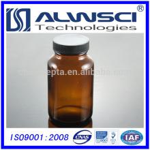 75ml armazenamento farmacêutico amber boca larga boston redondo garrafa de vidro