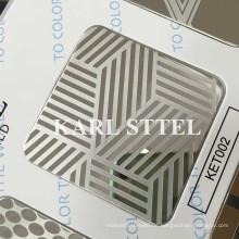 China Geätztes Blatt des Edelstahl-Ket002 für Dekorationsmaterialien