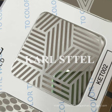 410 Stainless Steel Etched Ket002 Sheet for Decoration Materials