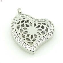 Мода цветок медальон духи эфирное масло диффузор медальоны,сердце кристалл медальон оптовая