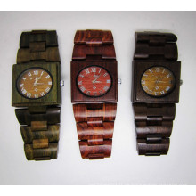 Hlw072 OEM Männer und Frauen aus Holz Uhr Bambus Uhr hohe Qualität Armbanduhr