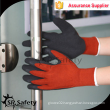 SRSAFETY 10 gauge polycotton liner coated latex on palm,crinkle finish,working gloves safety gloves latex gloves