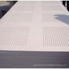 Wasserdichte Gipsplatte / Akustische perforierte Gipsplatte / wasserdichter Trockenmauer-Gips-Brett