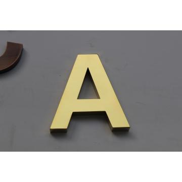 Neu! ! Spiegel Titan Vergoldet Edelstahl Nicht-Beleuchtung Metall Buchstaben Zeichen