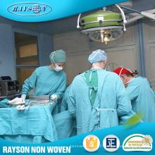 Tissu chirurgical non tissé d'hôpital de vêtements de fournisseur de la Chine