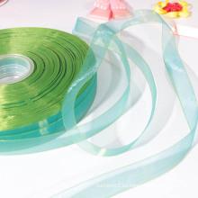 Venta al por mayor de China de alta calidad de satén turquesa cinta