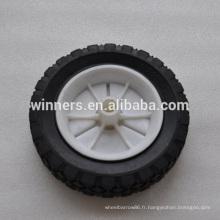 """6 """"x 1.5"""" petite roue en caoutchouc solide pour corbeille"""