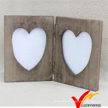 Support de table de table de design Vintage Frame Love Wood Wood