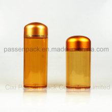 Amber Pet Plastikbehälter für australisches Fischöl (PPC-PETM-015)