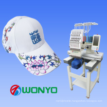 Computerized 12 Colors Single Head Cap/ Flat/T-Shirt Embroidery Machine Wy1201CS/Wy1201cl