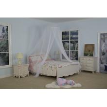 Lit de moustiquaire de parapluie de couleur simple de lit double
