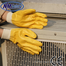 NMSAFETY EN388 4111 oil resistant nitrile glove Heavy duty NBR working glove high quality/safety gloves