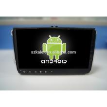 9 '' fábrica directamente Quad core android para reproductor de DVD del coche, GPS, OBD, SWC, wifi / 3g / 4g, BT, máquina universal forvw de 9 pulgadas