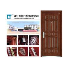 Porta blindada de madeira de aço quente do estilo de Turquia da venda